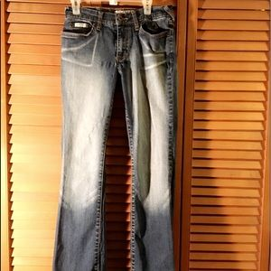 NEARLY NEW AUTHENTIC BABY PHAT DISTRESSED JEANS